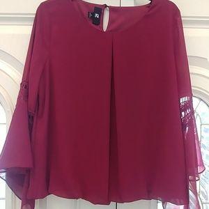 Peplum sleeves blouse